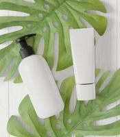 Squeeze bottle and pump bottle for cosmetic dispensing photo