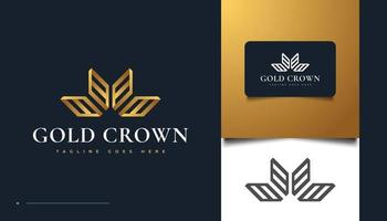 Luxury Gold Crown Logo Design for Brand and Business Identity vector