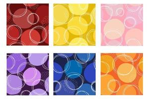 Seamless abstract colorful pattern vector collection fabric book
