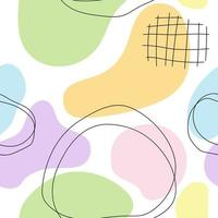Seamless modern abstract pastel colorful pattern line fabric book vector