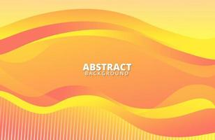 Wavy liquid shape on trendy gradient color abstract background vector