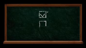 Check Boxes on Chalk Board Checklist Concept Video