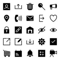User Interface Icon Pack with Flat Style vector