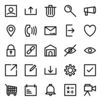 User Interface Icon Pack with Line Style vector