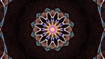 lazo de patrones de secuencia de mandala de flor hipnótica oscura video