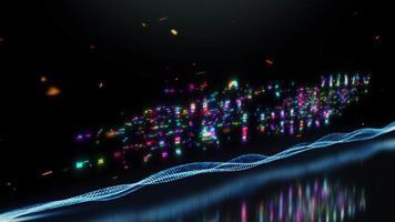 offre spéciale vendredi noir texte coloré mot scintillant lumière video