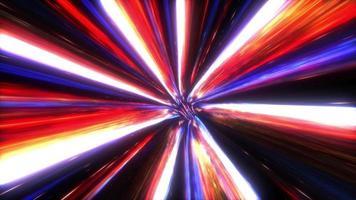 el hiperespacio acelera la línea multicolor en un túnel de ciencia ficción futurista video