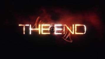 l'arrière-plan du titre cinématographique de fin avec un tunnel numérique abstrait video