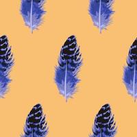 Blue Feather Seamless Pattern vector