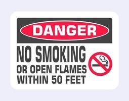 señal de no fumar. icono de signo prohibido. vector