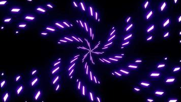 Spiral Purple Light Particles Scattering Effect video