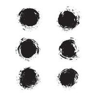 grunge brush stroke collection vector