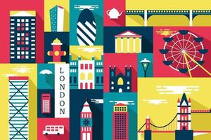Vector illustration of city in london, flat design concept