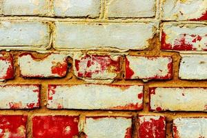 Texture of a brick wall with cracks and scratches photo