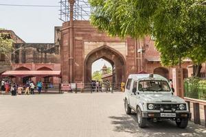 puerta este del taj mahal. entrada al taj mahal agra, india. foto