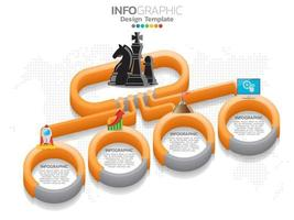 Business process chart infographics Isometric 3d vector