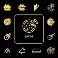 Delivery food pizza icon, vector icon
