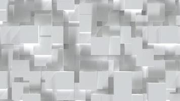Abstract white cube block on random level surface photo