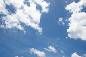 Beautiful blue sky with cloudy. Nature and environment concept photo