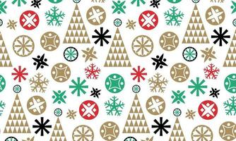 Christmas element pattern background vector