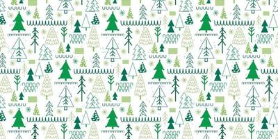 Christmas tree winter festive forest pattern background vector
