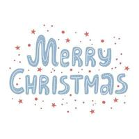 Merry christmas hand drawn lettering Merry Christmas script vector