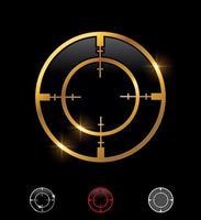 Golden Crosshair Shooting Target Vector Sign