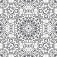 mandala floral seamless pattern design vector