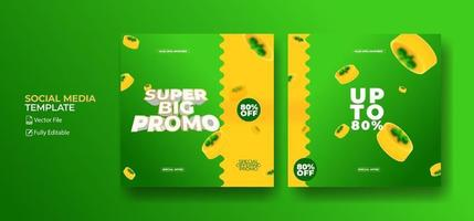 Set of Promotional template Suitable for social media post, ads, sales vector