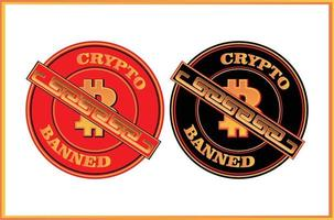 Sign of prohibition of transacting crypto currency vector