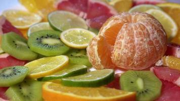 Fresh citrus fruits video