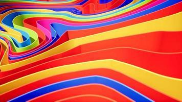 animazione gradiente di onde colorate .. futuri modelli geometrici motion video