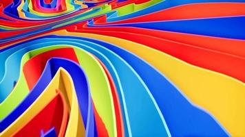 Colorful wave gradient animation.. Future geometric patterns video