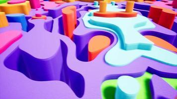 curva de color abstracto 4k video