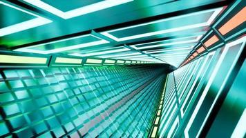 neon tunnel rendering 3d sfondo astratto 4k video