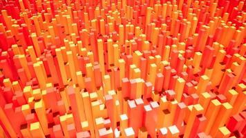 introdução das caixas laranja e vermelha para o vídeo 4k video