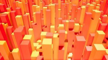 caixas laranja e vermelhas 4k video