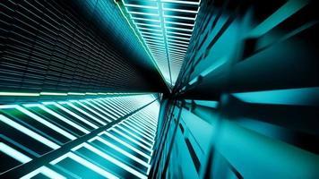 Render 3D, túnel de neón abstracto 4k video