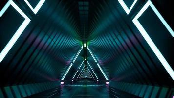 Neon tunnel fluorescent ultraviolet 4k video