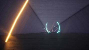 lange neontunnel 3d render 4k video