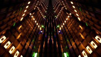 3d render fluorescent ultraviolet light, glowing neon tunnel 4k video