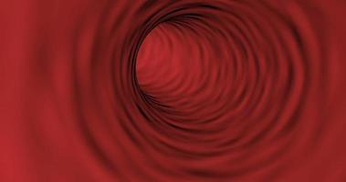 Movement inside the blood vessel able to loop seamless 4k video