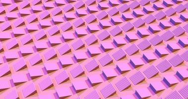 Moving pink staircases 3d footage video