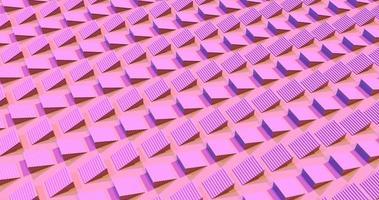 metraggio 3d di scale rosa in movimento video