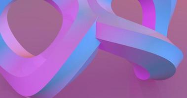 Two rotating pink circles 3d footage video