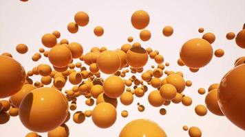 abstract che cadono palle 3d in riprese aeree video