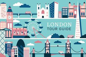 Vector illustration the city of london, flat design concept
