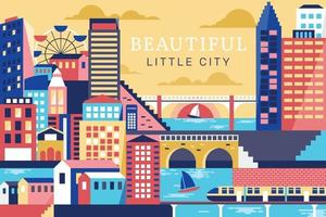 Vector illustration beautiful of city, flat design concept