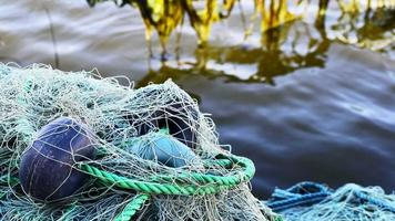 Fishnet and Fishing Lines in the Dock video