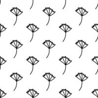 Seamless pattern made from doodle ginkgo biloba leaves vector